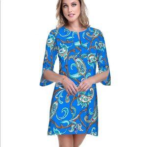 Barbara Gerwit Nylon Spandex Split Neck Dress NWT